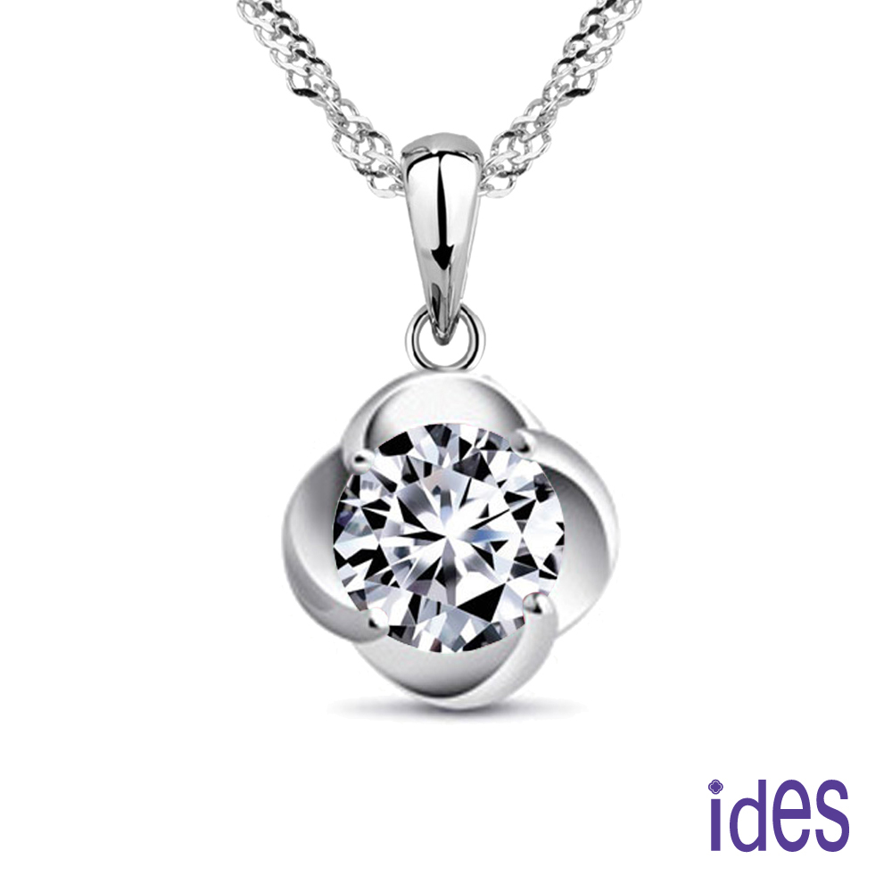 ides愛蒂思 精選一克拉E/VS2八心八箭完美車工鑽石項鍊(花開富貴)