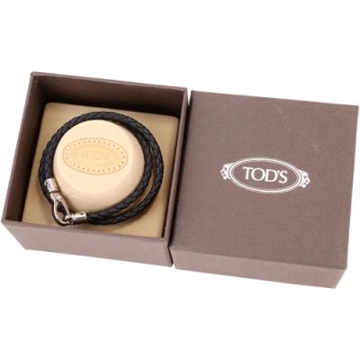 TOD'S MyColors Braided 編織小牛皮手環(黑色)