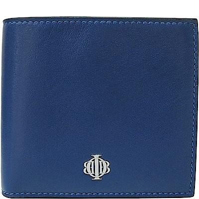 OBBI LAI 寶藍色小羊皮短夾皮夾錢包