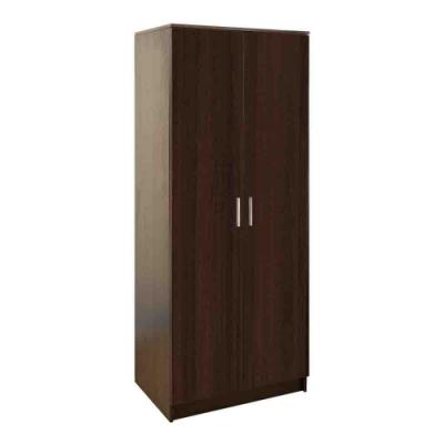 柏蒂家居-布倫丹2.3尺二門衣櫃-胡桃色(單吊桿)-70x51x180cm