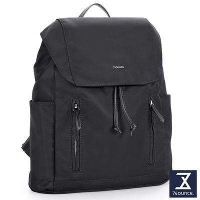 74盎司 Roomy 雙拉鍊束口後背包[LG-924-RO-W]黑