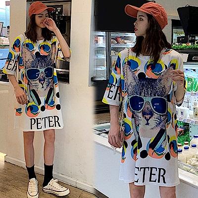 【韓國K.W.】自信美麗貓咪超質感上衣洋裝