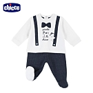 chicco- 熊貓小釣手-紳士連腳褲套裝