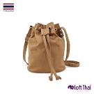Loft THAI | 泰.兩用斜紋帆布水桶包 | Brown