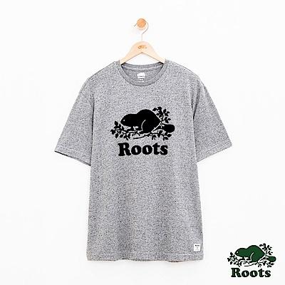 男裝Roots 庫柏海狸短袖T恤-灰