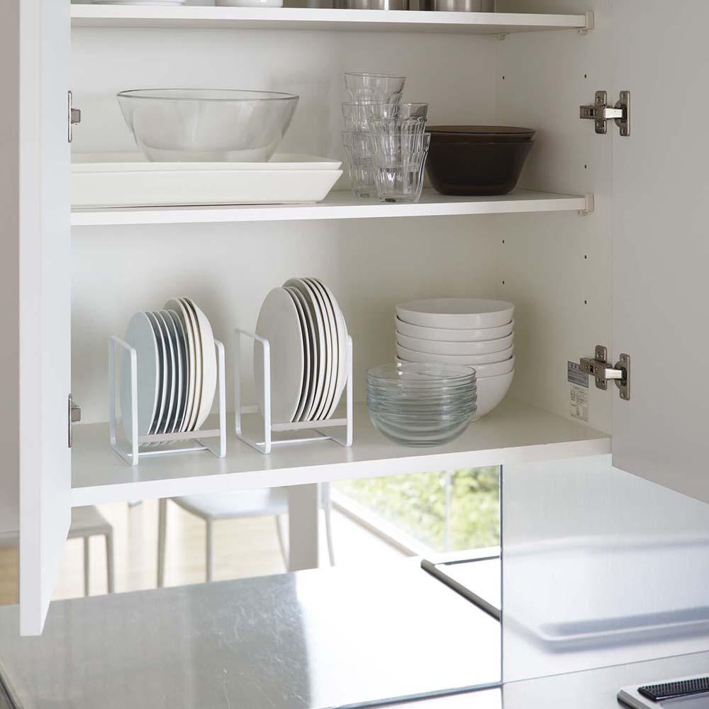日本YAMAZAKI-Plate日系框型盤架S-4入★碗盤架/置物架/保鮮盒蓋收納