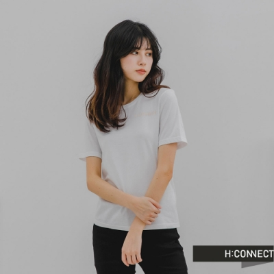 H:CONNECT 韓國品牌 女裝 -質感大理石暈染T-Shirt-白色