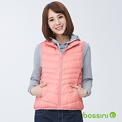 bossini女裝-輕羽絨背心01珊瑚色