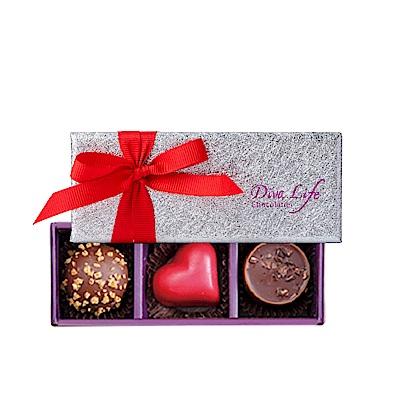 Diva Life 愛戀版 經典3入禮盒(比利時夾心巧克力) 5盒