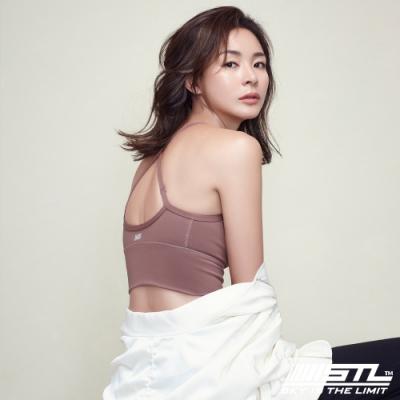 STL Bra Crop Top base 韓國 高度支撐 機能運動內衣 / 短版背心 (含專利胸墊) 乾燥玫瑰