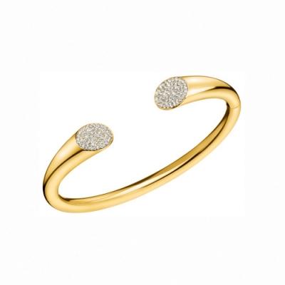 CALVIN KLEIN Brilliant 系列閃耀香檳金手環-XS