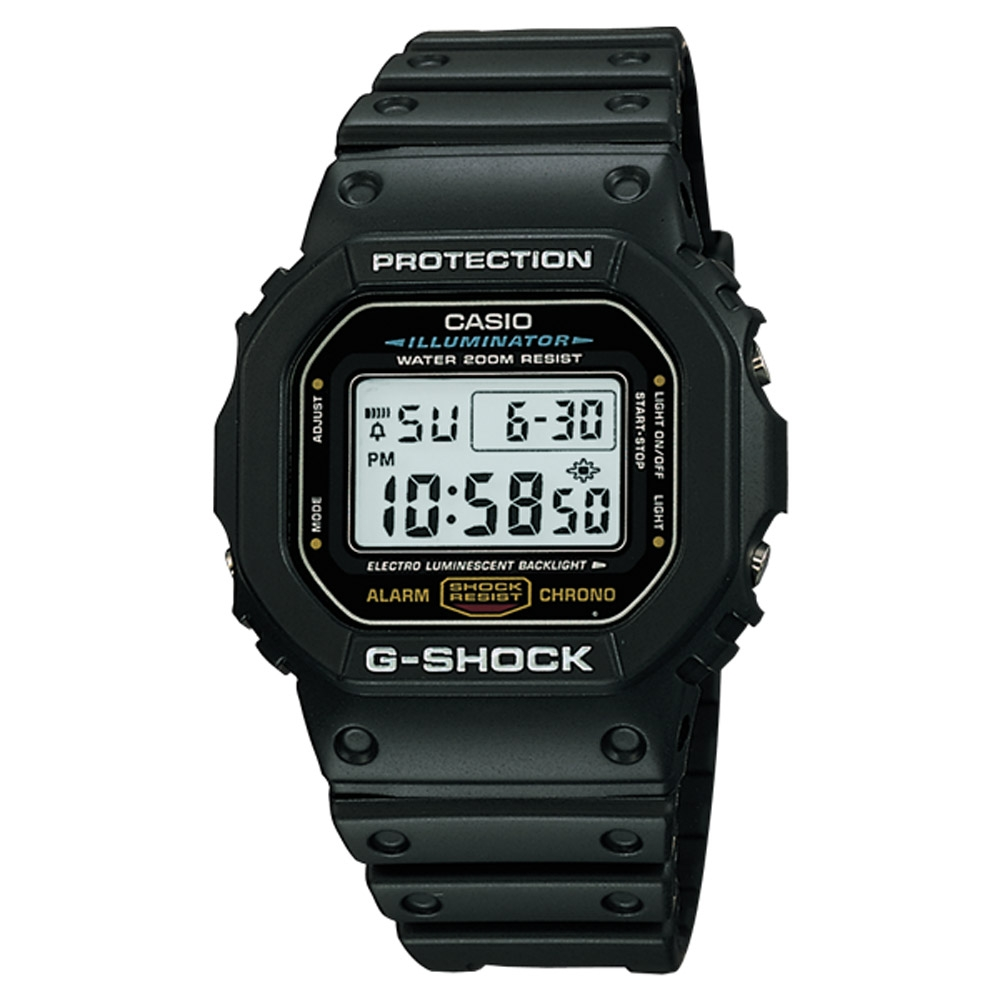 G-SHOCK 經典傳說運動錶(DW-5600E-1)-黑/48.9mm