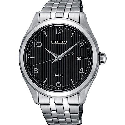 SEIKO 精工 SOLAR 太陽能日系紳士時尚手錶(SNE489P1)-42mm