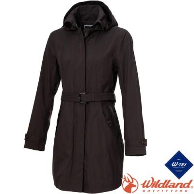 Wildland 荒野 0A72909-95鐵灰色 女長版防水防風時尚外套*