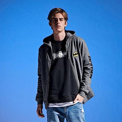 CACO-蝙蝠織帶連帽外套-(兩色)-男【QDC027】