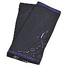 ANNA SUI 繽紛亮片造型品牌字母LOGO刺繡安哥拉羊毛露指手套(黑色系)