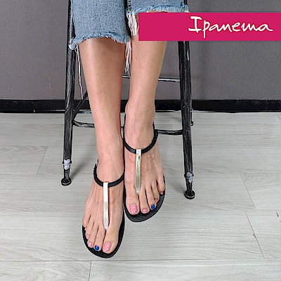 IPANEMA 典雅奢華人字涼鞋-黑色