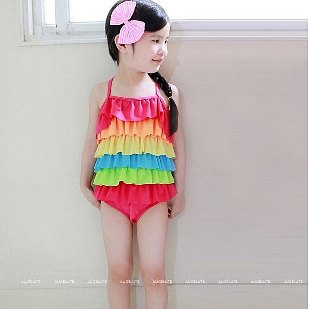 baby童衣 兒童泳衣 荷葉連體女童泳裝 30824