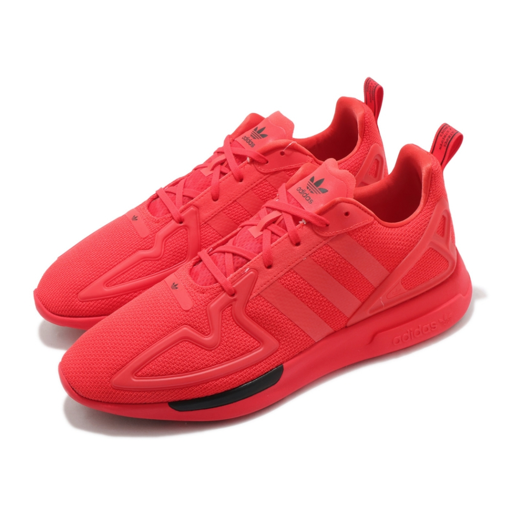 adidas 休閒鞋 ZX 2K Flux 運動 男女鞋 愛迪達 輕量 舒適 避震 情侶穿搭 球鞋 紅 黑 FV8478