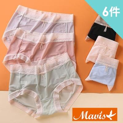 [時時樂限定]Mavis瑪薇絲-裸感舒適彈力中腰無痕內褲(6件組)