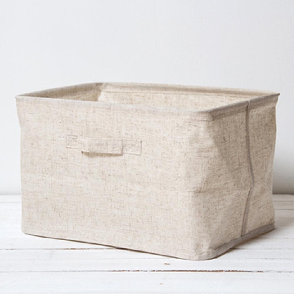 UdiLife 森/棉麻收納盒/大-3入組