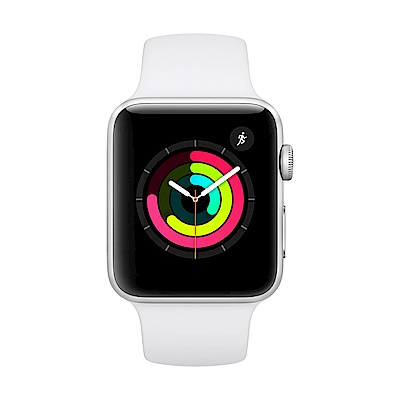 Apple Watch Series 3 (GPS) 42mm 銀色鋁金屬錶殼+白色錶帶