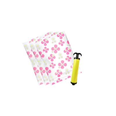 LISAN行家首選真空收納袋(玫紅系列)-中3+小5【附手動抽氣幫浦】