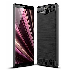 PKG SONY Xperia 10 Plus手機殼時尚碳纖紋路+抗指紋