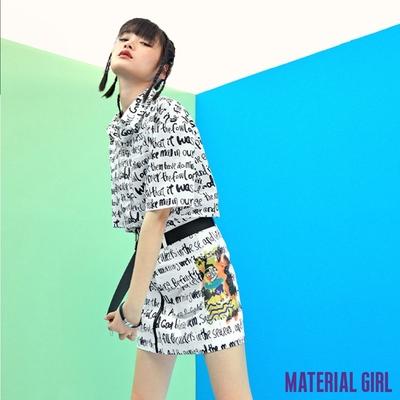 MATERIAL GIRL 潮玩藝術字母高腰短裙【21夏季款】-B2416