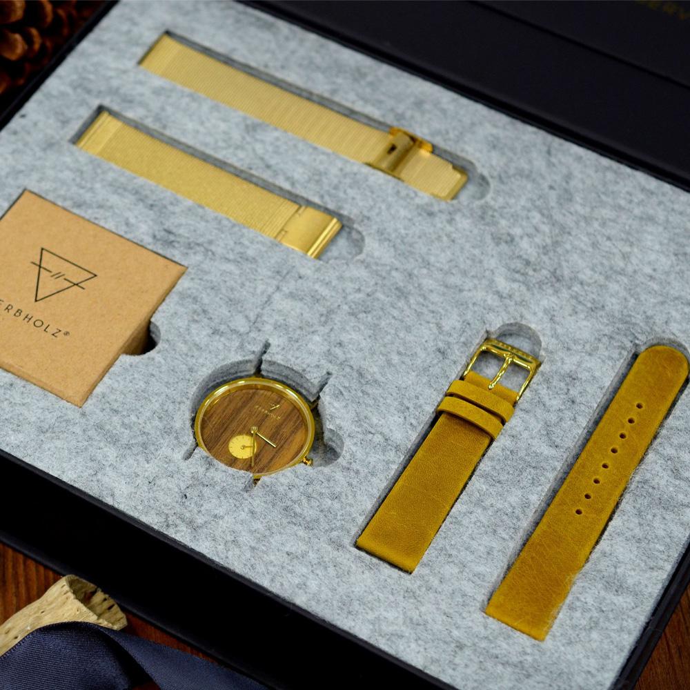KERBHOLZ-原木手錶-FRIDA禮盒組-女性適用
