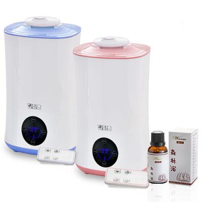 (2選1)Warm 定時/遙控負離子超音波水氧機W-401+澳洲單方純精油30mlx1