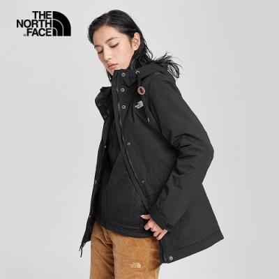 The North Face北面女款黑色防水透氣三合一外套|4NBNJK3