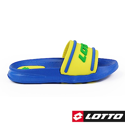LOTTO 義大利 童  Summer Play 兒童輕量拖鞋 (藍黃)