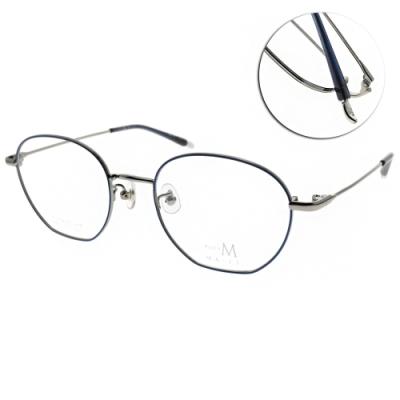 MA-JI MASATOMO 眼鏡  多邊形文藝款/藍-槍#PMJ511 COL4