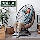 【倒數迎接雙12-生活工場】*舒適旋轉式蛋形椅(淺咖啡色) product thumbnail 2