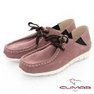 【CUMAR】極簡生活 - 兩穿式綁帶袋鼠休閒鞋-紫色