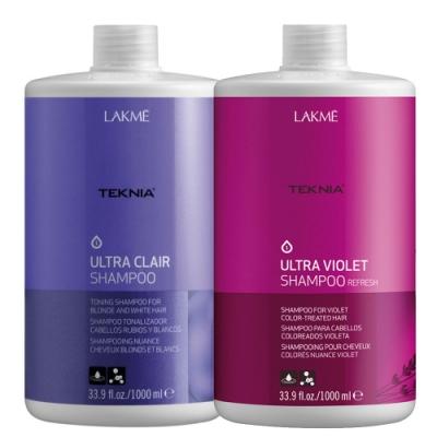 *LAKME 矯色洗髮精1000mlx紫綴洗髮精1000ml (含押頭)
