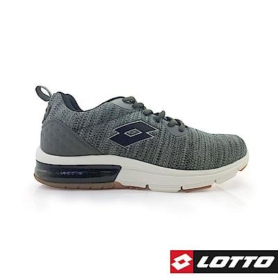 LOTTO 義大利 男 ARIA KNIT 氣墊跑鞋 (綠)