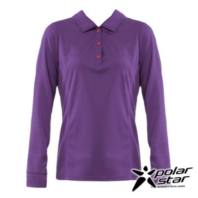 【PolarStar】女 吸排抗UV POLO衫『葡萄紫』P20254
