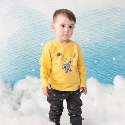 奇哥 太空宇宙長褲-深灰 (2-5歲)