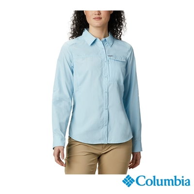 Columbia 哥倫比亞 女款- Omni-Shade防曬50快排長袖襯衫-藍色 UAR26570BL