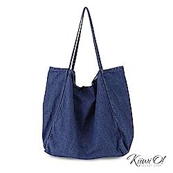 Kiiwi O! shoulderbag | 大容量水洗丹寧帆布包 深丹寧