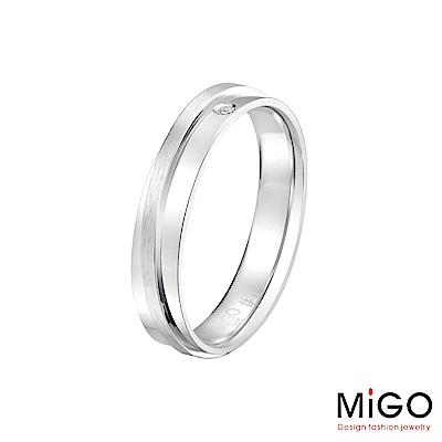 MiGO 擁抱純銀男戒指