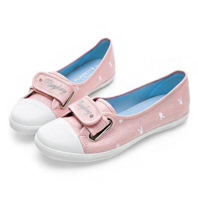 PLAYBOY 亮蔥輕便丹寧帆布便鞋-粉-Y520699