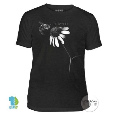 摩達客-美國The Mountain保育系列 蜜蜂之音 中性短T恤 柔軟高級混紡
