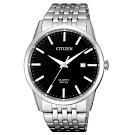 CITIZEN 星辰GENTS風格日期顯示黑錶面腕錶(BI5000-87E)