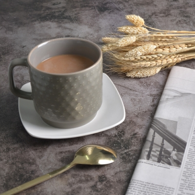 Homely Zakka-簡約北歐ins風時尚馬克杯/咖啡杯/早餐杯_沉靜棕
