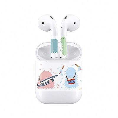 mogen AirPods 隨身耳機保護貼 怪獸音樂天團款