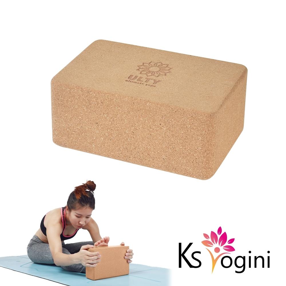 KS yogini 天然環保 伸展軟木瑜珈磚9.5cm