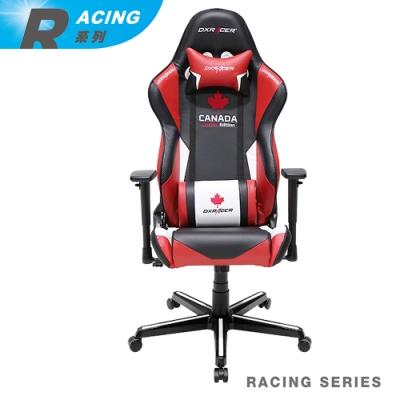 【DXRACER】急速狂飆 Racing系列 OH/RH16/NRW/CANADA 電競賽車椅(黑紅白)
